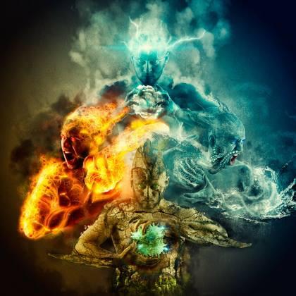 Resultado de imagem para terra ar fogo agua